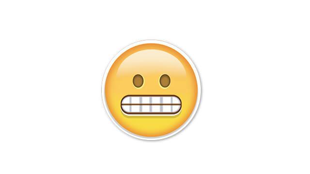 snapchat grimace emoji means
