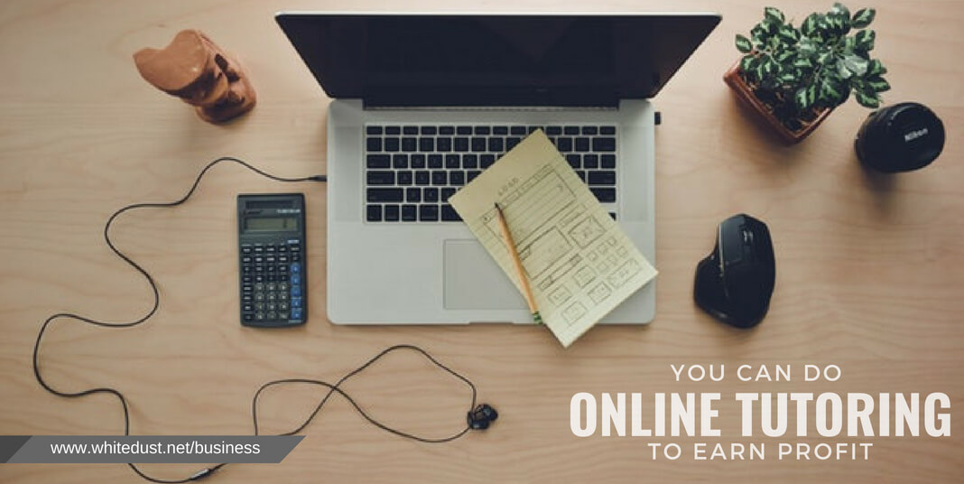 then you can teach that online by making video lectures and earn profits