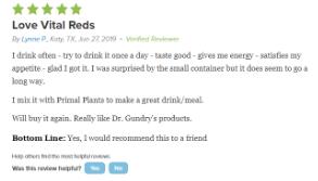 vital reds ingredients