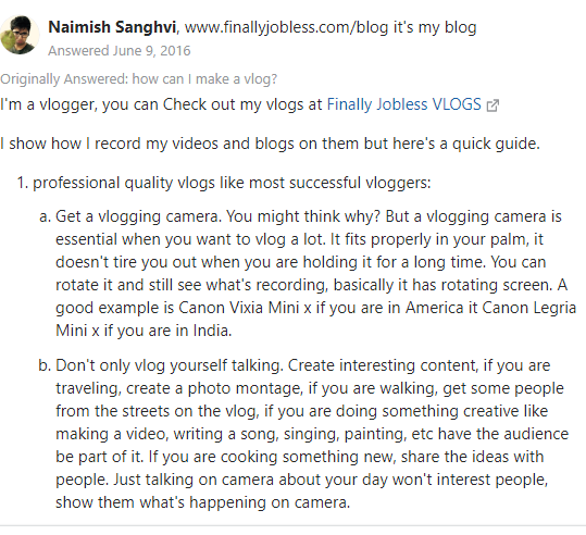 how to vlog