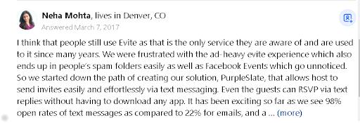 Evite app