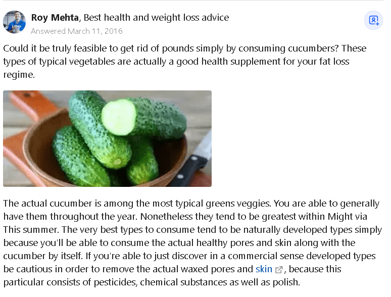 are cucumbers good for you